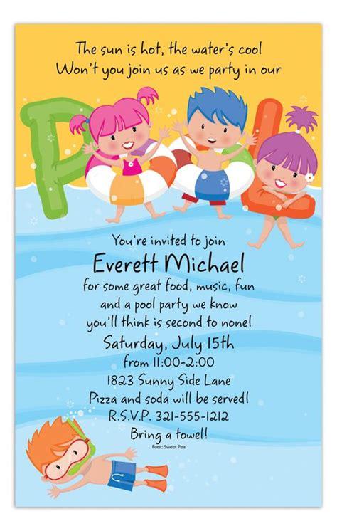 swimming pool invitations templates 71 best pool invitations images on pool