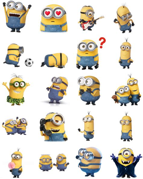 Ho4083 Patung Animation Mini Despicable Me Set image minions stickers png idea wiki fandom powered by wikia