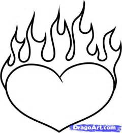 how to draw tattoos step by step how to draw a heart on fire step by step tattoos pop culture free online drawing tutorial