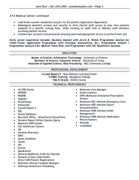 sle resume for application support analyst it support analyst cv sle show your key