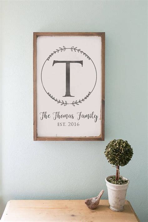 wedding gift name sign last name sign monogram sign wooden sign farmhouse sign