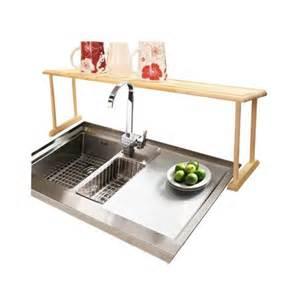 home basics oak wood the sink shelf walmart