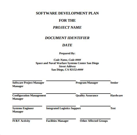 sle development plan template 8 free documents in