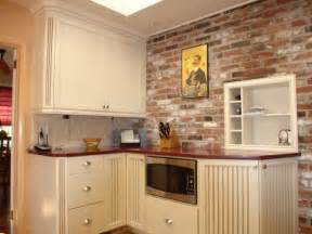 kitchen brick backsplashes for warm and inviting cooking brick veneer kitchen backsplash home design ideas