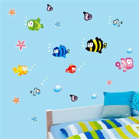 underwater wall stickers underwater fish starfish wall sticker for