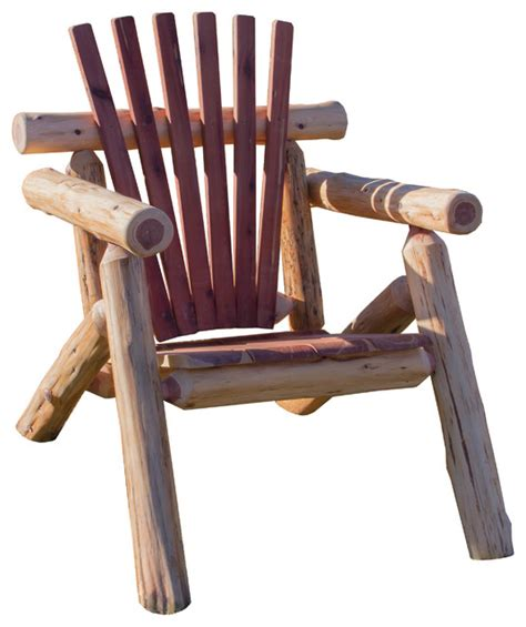 outdoor log adirondack chairs cedar log outdoor adirondack chair rustic