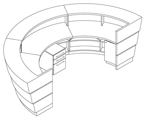 drawing desk for reception desk detail cad drawing