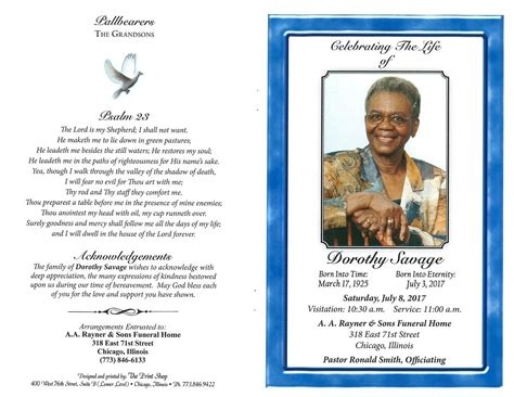 dorothy savage obituary aa rayner and sons funeral home