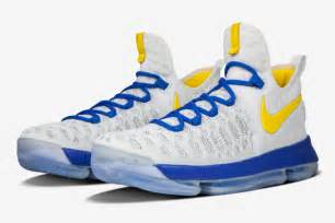 golden state warriors color shoes kd9 nikeid limited edition