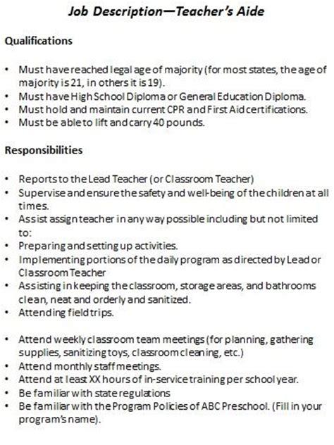 preschool description resource templates children s