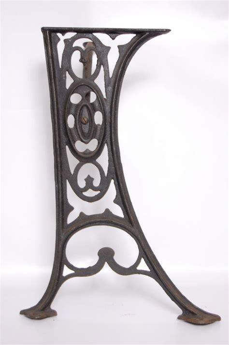 antique decorative cast iron table legs base vintage