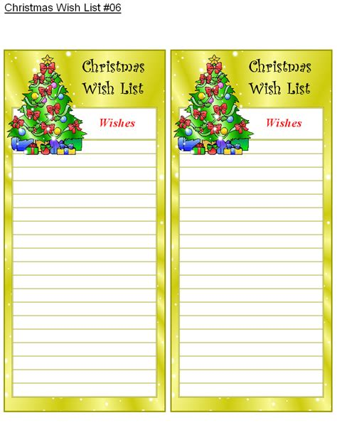 printable christmas list maker christmas wish list 6