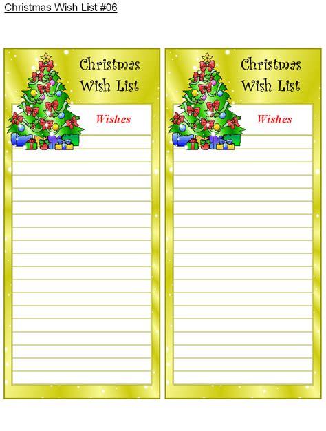 christmas wish list 6