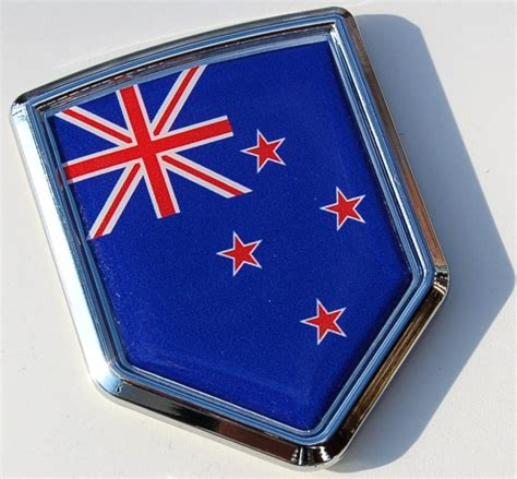 Auto Decals Nz by Nationality Flag Crest Emblems New Zealand Decal Flag