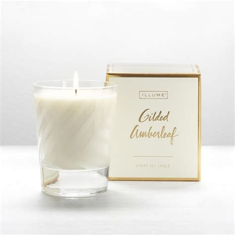 Illume Candles New Gilded Amberleaf Boxed Glass Illume Candle