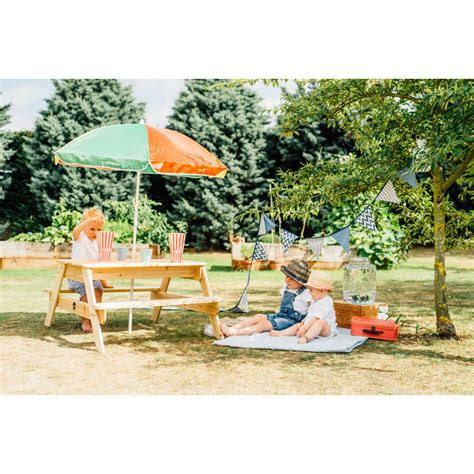 wooden picnic table with umbrella plum wooden picnic table with umbrella buy