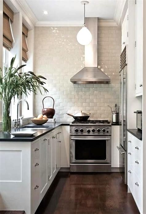 narrow kitchen design ideas 31 stylish and functional narrow kitchen design