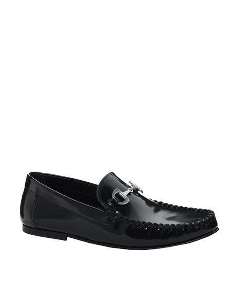 black tassel loafers for asos tassel loafers with snaffle in black blackpolido lyst