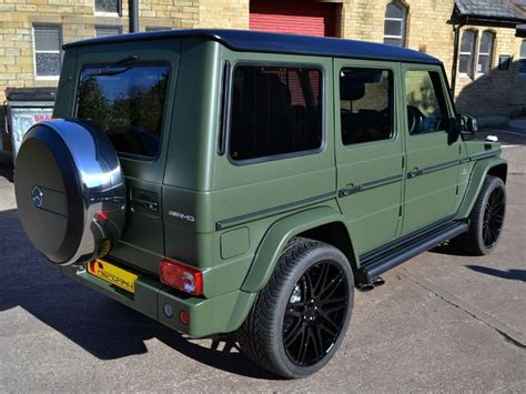 mercedes g wagon green g63 amg matte military green car wrap reformauk colors