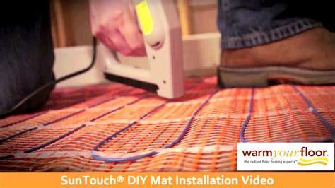 Sun Touch Heated Floor by Suntouch 30 Diy Floor Heating Mat Install Knowledge Center