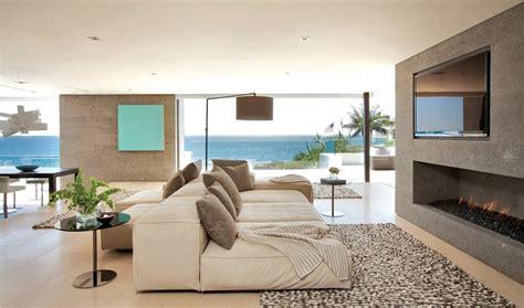 sofa for beach house contemporary fireplace sofa rug beach house in laguna