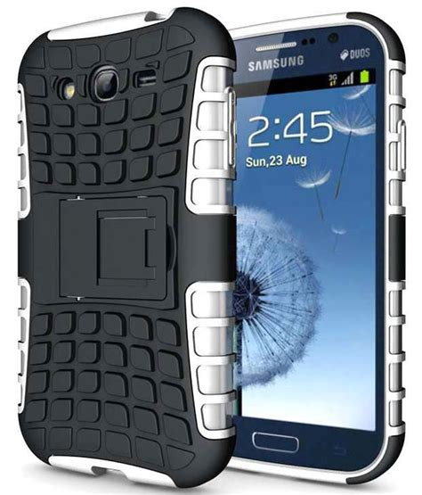 Samsung Grand Duos Rugged Bumper Armor Stand Soft Cover heartly flip kick stand dual armor hybrid rugged