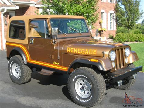 jeep cj7 renegade 1985 jeep cj7 renegade nut and bolt restoration amc v8