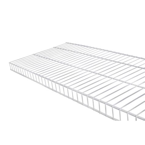 white wire rack shelving shop rubbermaid linen 6 ft x 16 in white wire shelf at