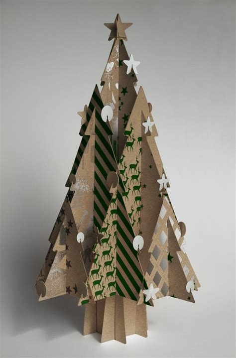 weihnachtsbaum aus pappe d 233 coration de no 235 l 224 fabriquer 40 id 233 es en papier 3d