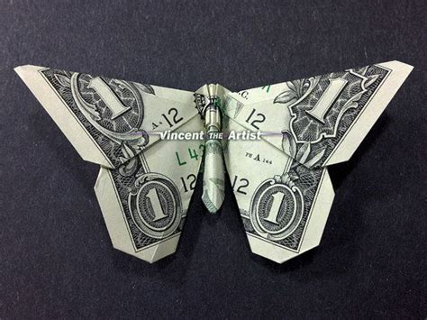 Origami Dollar Butterfly - pin by vincent on money dollar origami