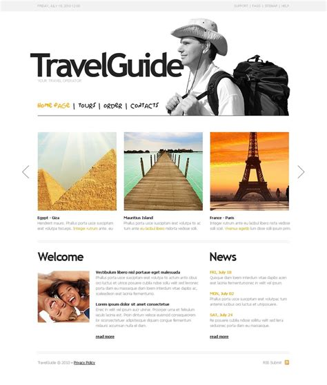 tour guide template travel guide website template web design templates