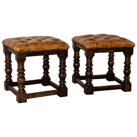 Chesterfield Stool by 2 Pairs Of Chesterfield Stools Circa 1920 At 1stdibs