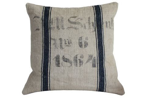 Sack Pillow by Nbr 6 1864 Grain Sack Pillow Slip Omero Home