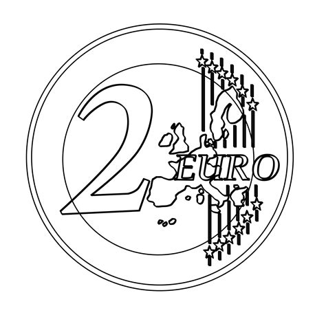 euro coloring page 2 euro clipart clipground