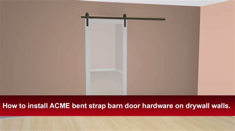 how to install barn door hardware how to install renin s bent barn door hardware into