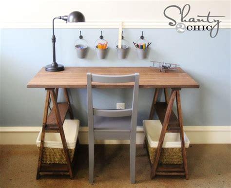 Diy Trestle Desk 13 Free Diy Desk Plans You Can Build Today