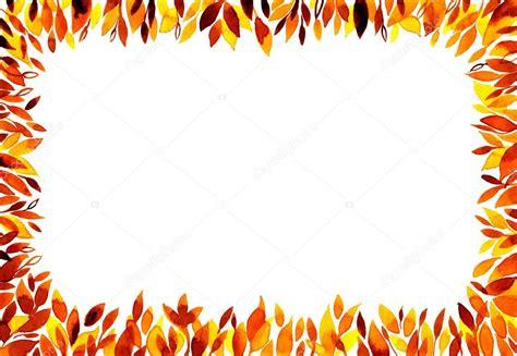 cornice autunno priorit 224 bassa dell acquerello con cornice dell autunno