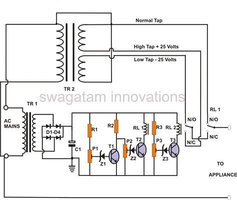 Ac Automatic Voltage Regulator ac voltage regulator electrical wiring diagrams fuse box