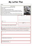 ks letter planning template teaching resources