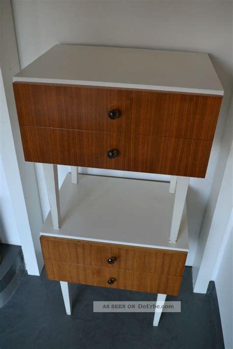 2 nachttisch tisch schubladenschrank beistelltisch 60er - Nachttisch 70 Jahre