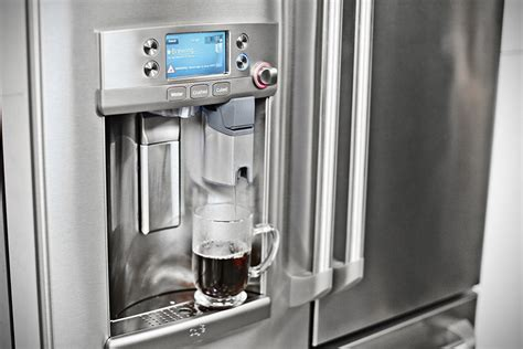 ge cafe door refrigerator forget about dispensing ge s new fridge can make a