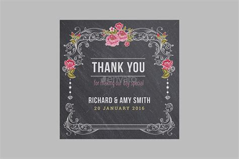 Chalkboard Thank You Card Template by 28 Attractive Floral Thank You Cards Free Word Pdf