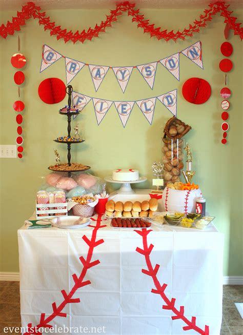 baseball themed birthday party baseball birthday party ideas events to celebrate