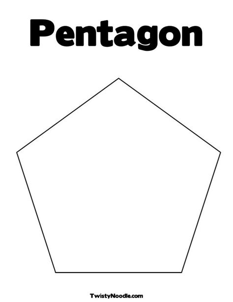 pentagon template pentagon coloring pages