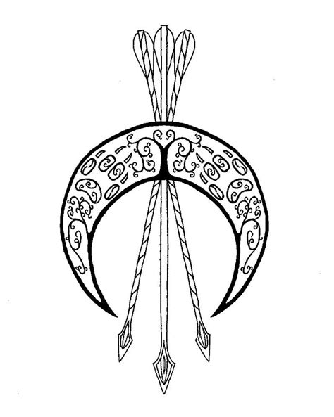 artemis tattoo emblem of artemis by artemisi possible design but