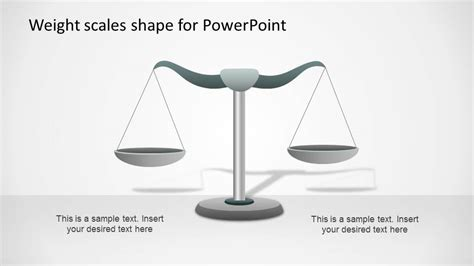 weight scale powerpoint shape equilibrium slidemodel
