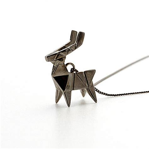 Origami Metal - not paper craft but origami necklace gadgetsin