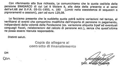 sede enasarco roma cessione quinto pensionato enasarco preventivo