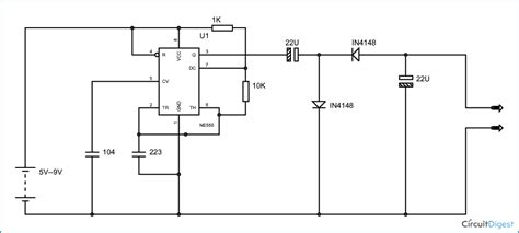 negative voltage generator circuit diagram using ic 555