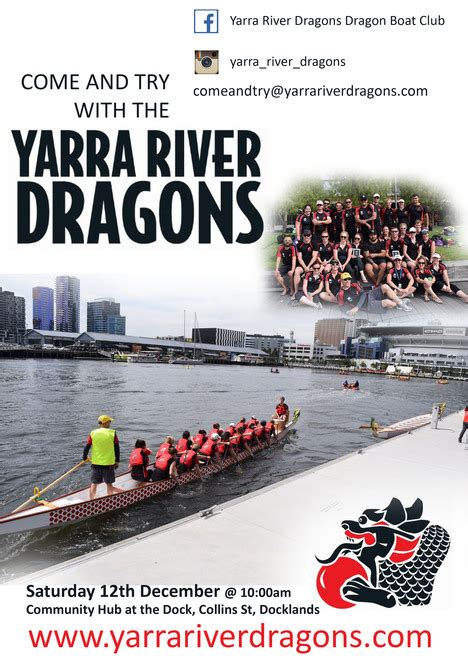 dragon boat docklands come and try day yarra river dragons melbourne by